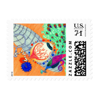 The Eye On The Peacock small Postage