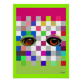 The Eyes Have It Pop Art Poster