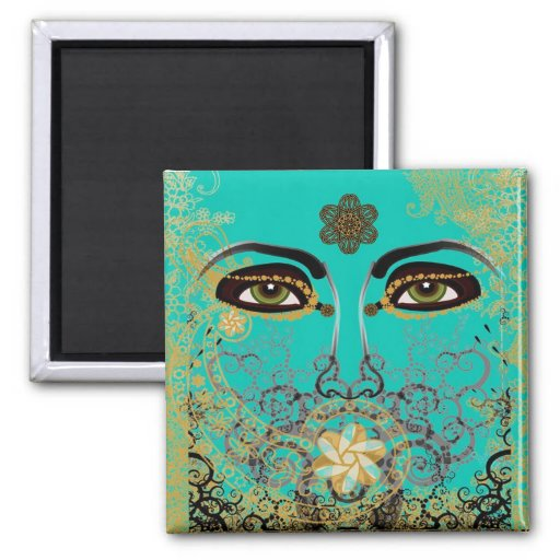 THE EYES OF TIME 2 INCH SQUARE MAGNET