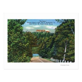 The Eyrie, John D Rockefeller Jr Home Postcard