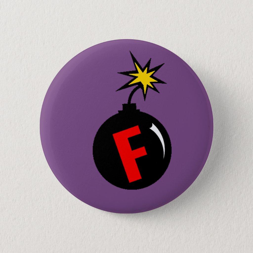 the f-bomb pinback button