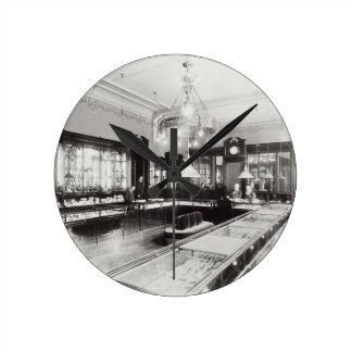 The Faberge Emporium (b/w photo) Round Clock
