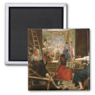 The Fable of Arachne, or The Spinners, c.1657 (oil 2 Inch Square Magnet