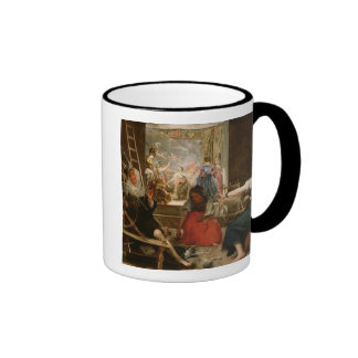 The Fable of Arachne or The Spinners c 1657 oil Coffee Mug