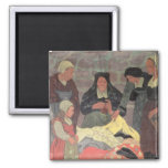The Fabric Seller, c.1898 2 Inch Square Magnet