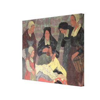 The Fabric Seller, c.1898 Canvas Print