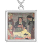 The Fabric Seller, c.1898 Square Pendant Necklace