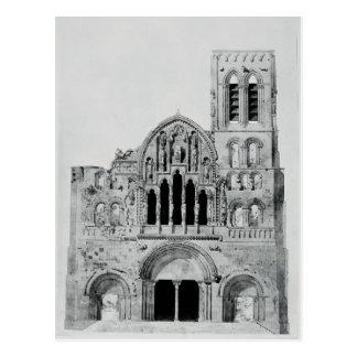The Facade of La Madeleine de Vezelay Postcard