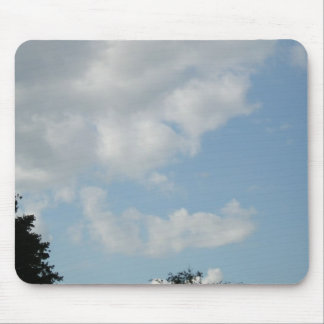 The Face - a face in the clouds Mouse Pad