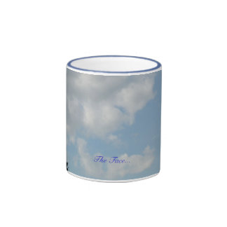 The Face - a face in the clouds Ringer Coffee Mug