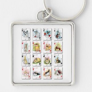 THE FACE CARDS KEYCHAIN