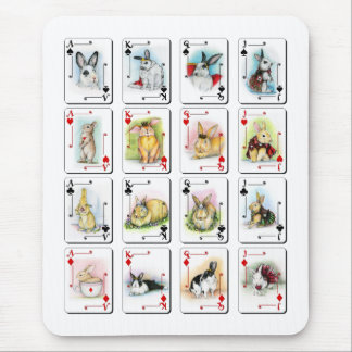 THE FACE CARDS MOUSE PAD
