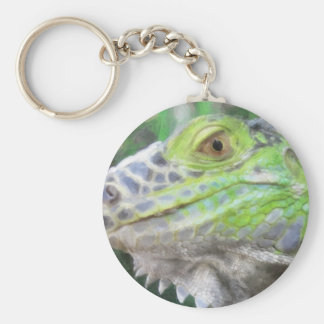 The Face of Bruno Painterly Basic Round Button Keychain