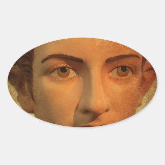 The Face of Caligula Oval Sticker