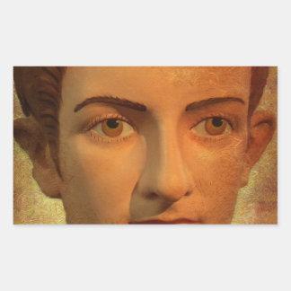 The Face of Caligula Rectangular Sticker