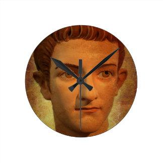 The Face of Caligula Round Clock