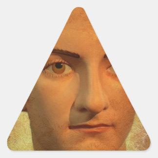 The Face of Caligula Triangle Sticker