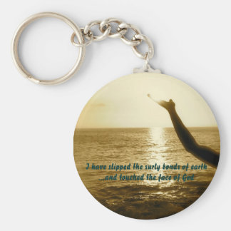 The Face of God Basic Round Button Keychain