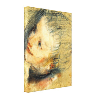 The face of Jesus Christ by Frederico Barocci Gallery Wrap Canvas