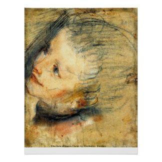 The face of Jesus Christ by Frederico Barocci Posters