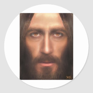 The face of Jesus Classic Round Sticker