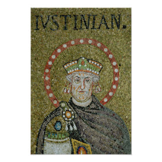 The face of Justinian Poster