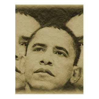 THE FACE OF OBAMA POSTCARD