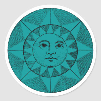 the face of the sun classic round sticker