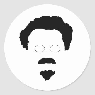 The Face of Trotsky Classic Round Sticker