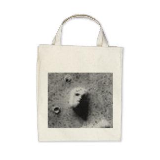 The FACE On MARS-_-Cydonia Mensae Tote Bags