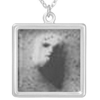 The Face on Mars in Your Cleavage Silver Plated Necklace