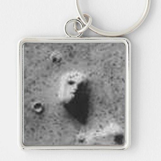 The Face on Mars on your Car's Key's Keychain
