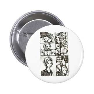 The faces of Loki 2 Inch Round Button