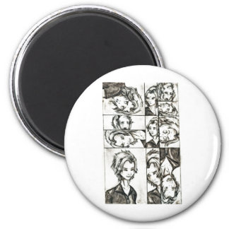 The faces of Loki 2 Inch Round Magnet