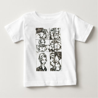 The faces of Loki Baby T-Shirt
