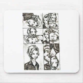 The faces of Loki Mouse Pad