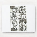 The faces of Loki Mousepads