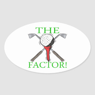 The Factor Oval Sticker