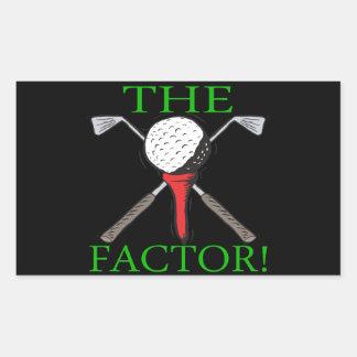 The Factor Rectangular Sticker