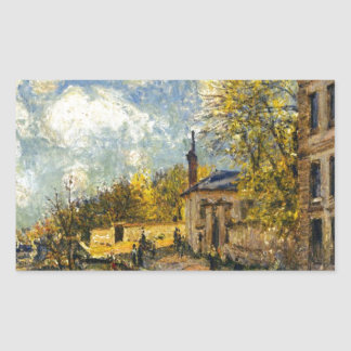 The Factory at Sevres by Alfred Sisley Rectangular Sticker