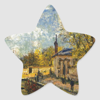The Factory at Sevres by Alfred Sisley Star Sticker