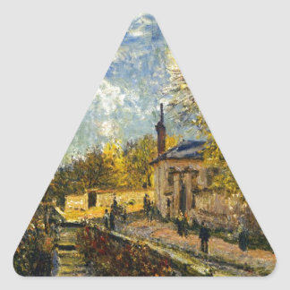 The Factory at Sevres by Alfred Sisley Triangle Sticker