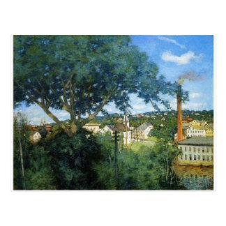 The Factory Village by Julian Alden Weir Postcard