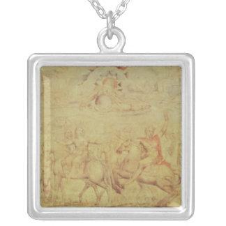 The Faerie Queene Square Pendant Necklace