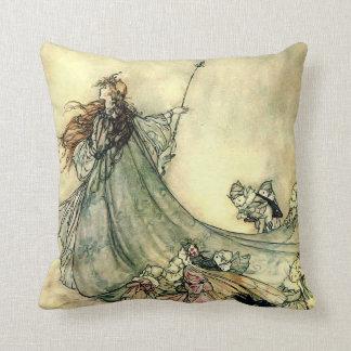 "The Faery Queen Throw Pillow 16"" x 16"""