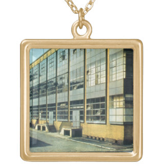 The Fagus Shoe Factory, designed by Walter Gropius Gold Plated Necklace