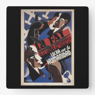 The FAI. On the bloody front_Propaganda Poster Square Wall Clock