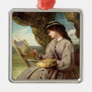The Fair Amateur, 1862 Metal Ornament