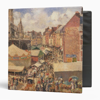 The Fair in Dieppe, Sunny Morning, 1901 3 Ring Binder