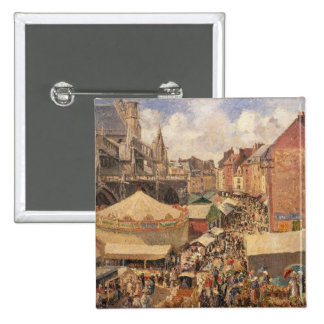 The Fair in Dieppe, Sunny Morning, 1901 Pinback Buttons